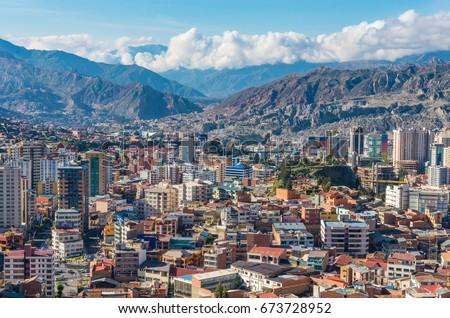 Shutterstock Cityscape of La Paz in Bolivia