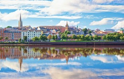 Cityscape of Londonderry, Northern Ireland