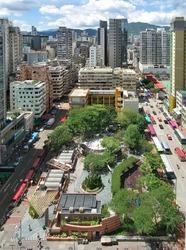 Cityscape of Mongkok, Hong Kong.