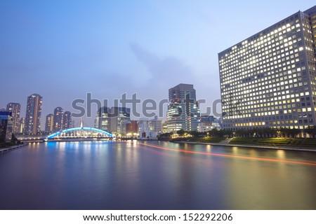 cityscape of night Tokyo