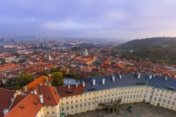 Cityscape of Prague - Czech Republic - travel and architecture background