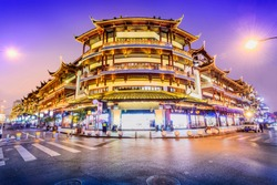 Cityscape of Shanghai. Located near Yu Garden Tourist Area, Shanghai, China.