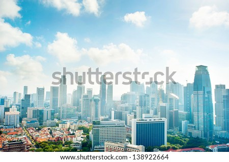 Cityscape of Singapore. Aerial view