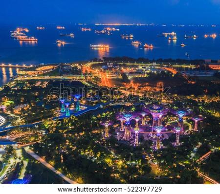 Cityscape of Singapore city #522397729