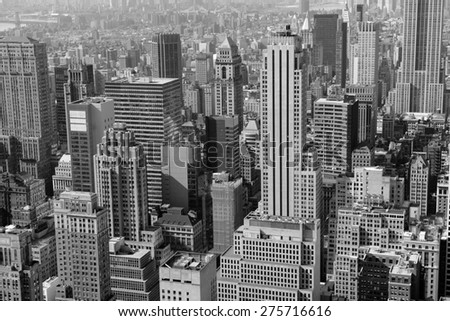 Cityscape of skyscrapers and buildings with Manhattan skyline in New York City #275716616