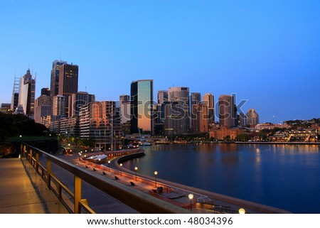 Cityscape of Sydney, Australia, at dawn. - stock photo