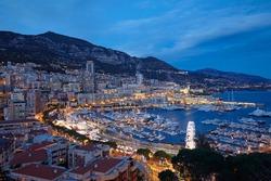 Cityscape of the principality on Monaco