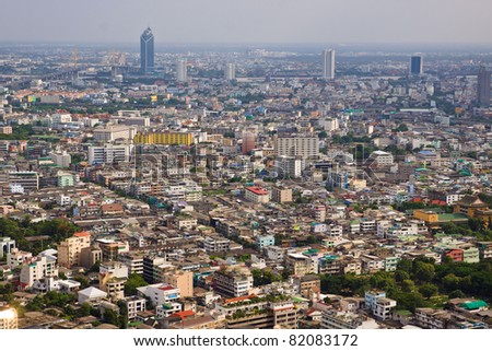 cityscape's in middle of Bangkok in Thailand - stock photo