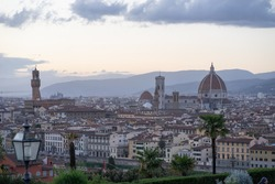 cityview of Italian city florence in the afternoon