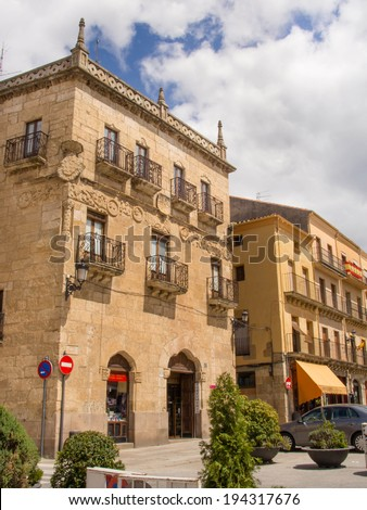 CIUDAD RODRIGO - APR 21 : Historic district view on April 21, 2014 in Ciudad Rodrigo, Salamanca, Spain. This town has an important historic legend.