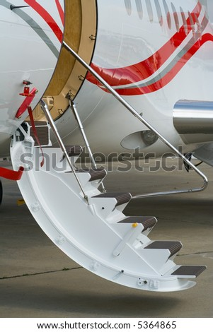 Civil airplane air stairs