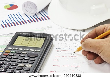 Civil Design Engineer is making structural analysis calculations using a scientific calculator