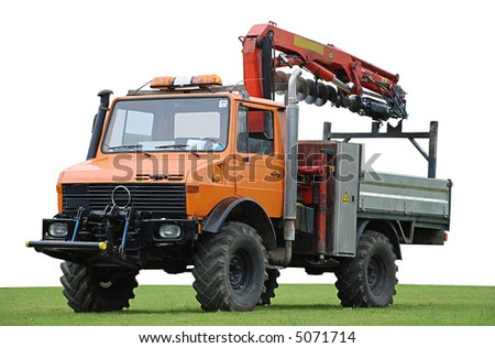 Civil engineering auger drill rig truck