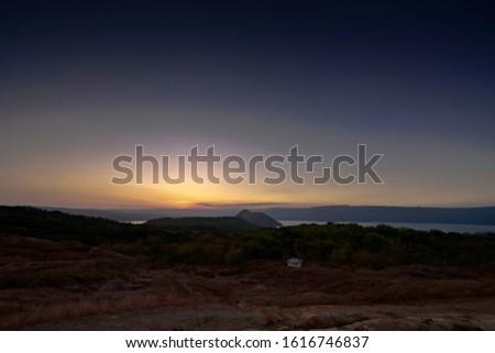 Civil Twilight at Taal Volcano Crater-Lake