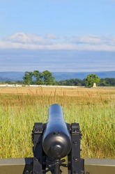 Civil War Cannon Aimed at Battlefield - Gettysburg Pennsylvania