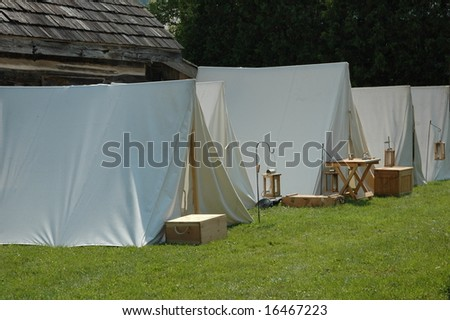 civil war military encampment