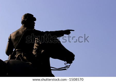 Civil War Statue, Silhouette