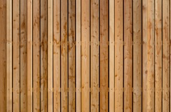 Cladding wood with various boards as wooden facade