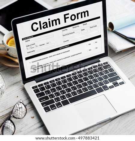 Free Claim Form Document Refund Indemnity Concept Photos  Page
