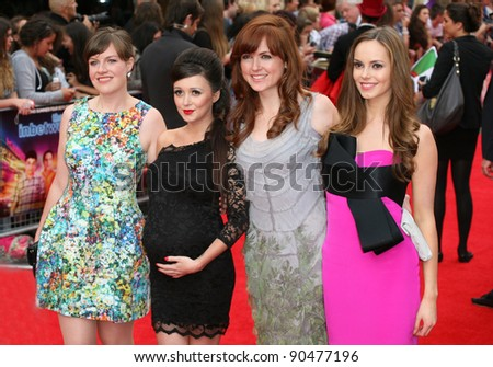 Clair Meek, Keery Ann Lynch and Hannah Tointon arriving for The Inbetweeners, The Movie, film premiere at the Vue Leicester Square, London. 16/08/2011 Picture by: Alexandra Glen / Featureflash