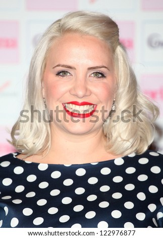 Claire Richards arriving for the Prima Comfort Fashion Awards 2012, At Evolution, Battersea Park, London. 13/09/2012 Picture by: Alexandra Glen
