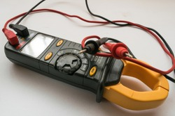 Clamp meter. It is a special type of ammeter