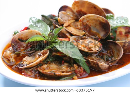 Clams Shell in Chili Paste