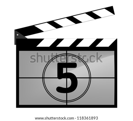 Clap board with countdown