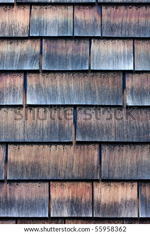 Clapboard house shingle roof