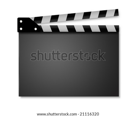 Clapperboard - stock photo