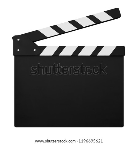 Photo of  clapperboard isolated on white background
