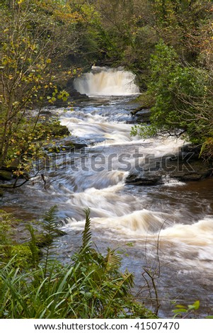 Clare Glens and Clare River form the border between county Limerick and Tipperary, Republic Of Ireland - stock photo