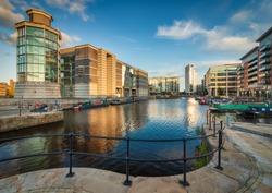 Clarence Dock Leeds UK Cityscape
