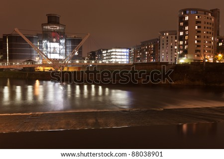 Clarence Dock, near The Royal Armouries in Leeds