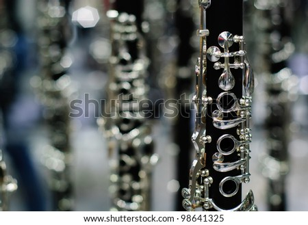 clarinet detail black and silver
