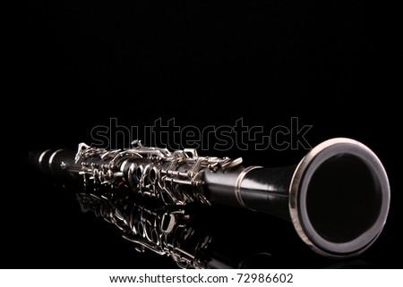 Clarinet isolated on black