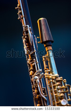 Clarinet Soprano Saxophone woodwind close up detail