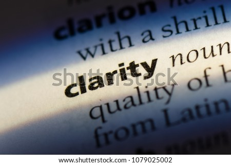 clarity word in a dictionary. clarity concept