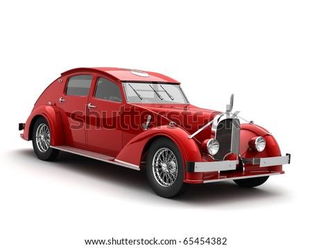 clasic car 3d rendering