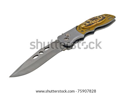 Clasp-knife isolated over white background