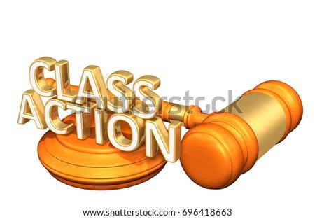 Class Action Law Concept 3D Illustration