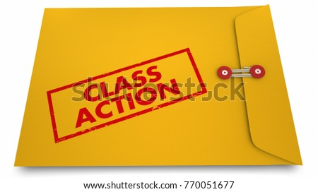 Class Action Lawsuit Documents Envelope 3d Illustration
