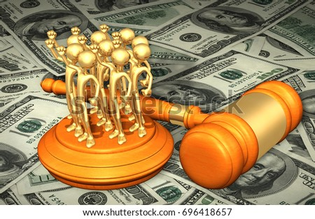 Class Action Lawsuit With The Original 3D Characters Illustration