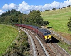 Class 57 Diesel Train  taken at Lostwithiel in Cornwall UK