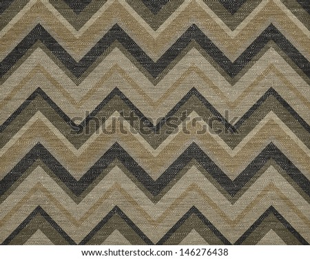 Classic abstract chevron pattern background, grunge canvas texture