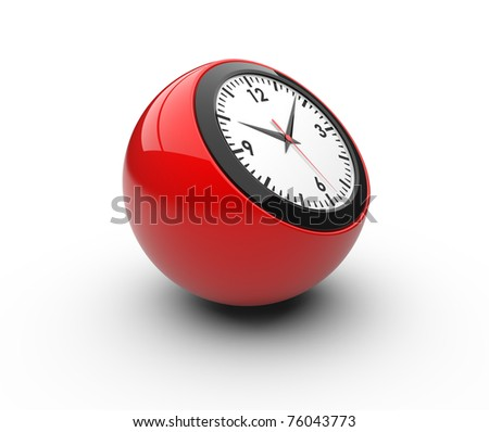 Classic alarm clock (3D rendered alarm clock)