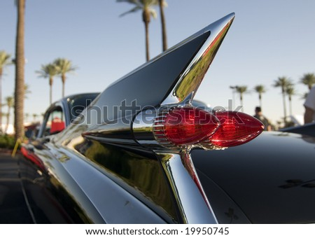 Classic American Car with cool chrome tail fin