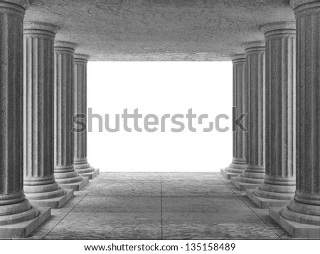 Classic Ancient Building Interior with place for Your text