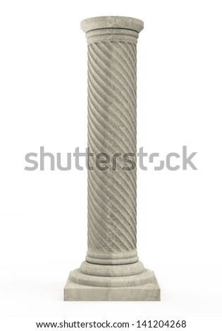 Classic Ancient Column isolated on white background
