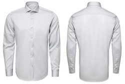 classic and business shirt, isolated white background.